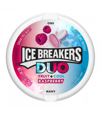 Ice Breakers Duo Raspberry Mints 1.3oz (36g) Hard Candy Ice Breakers