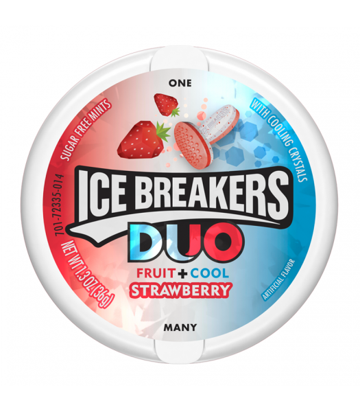 Ice Breakers Duo Strawberry Mints 1.5oz (42g) Sweets and Candy Ice Breakers