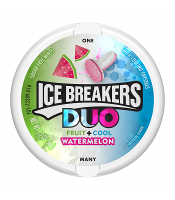 Ice Breakers DUO Watermelon Mints 1.3oz (36g) Hard Candy Ice Breakers