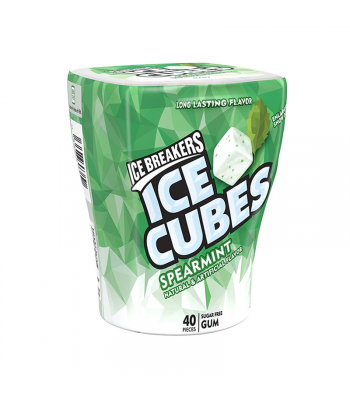 Ice Breakers Ice Cubes Spearmint Gum Bottle Sugar Free  3.24oz (92g) Bubble Gum Ice Breakers