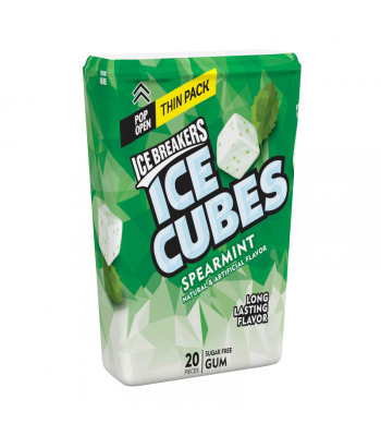 Ice Breakers Ice Cubes Spearmint Gum Thin Pack - 1.62oz (46g) Sweets and Candy Ice Breakers