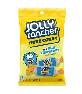 Jolly Rancher All Blue Raspberry Hard Candy - 7oz (198g) Sweets and Candy Jolly Rancher