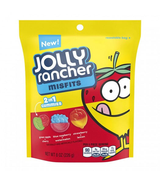 Jolly Rancher Misfits Gummy Candy 8oz Sweets and Candy Jolly Rancher