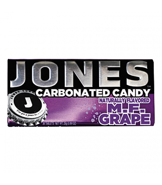Jones Soda Carbonated Candy - Grape 0.8oz (28g)
