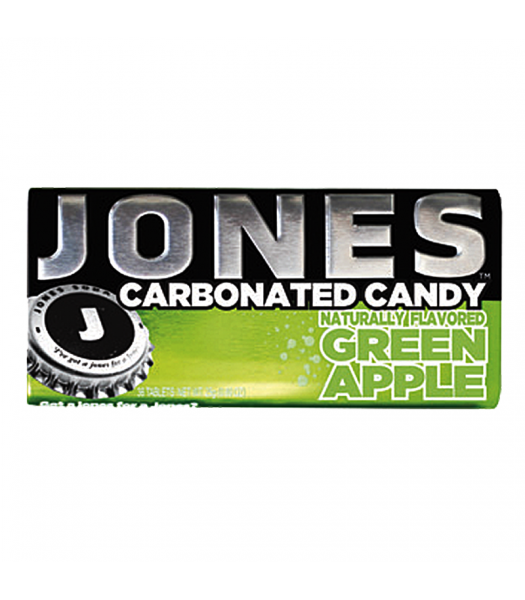 Jones Soda Carbonated Candy - Green Apple 0.8oz (28g)