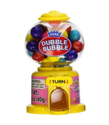 Kidsmania Dubble Bubble Mini Gumball Machine 1.41oz (40g) Novelty Candy Dubble Bubble