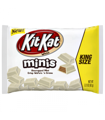 Kit Kat White Chocolate Unwrapped Minis - King Size - 2.2oz (62g)