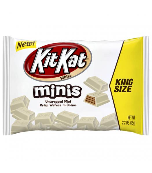 Kit Kat White Chocolate Unwrapped Minis - King Size - 2.2oz (62g) Chocolate, Bars & Treats Kit Kat
