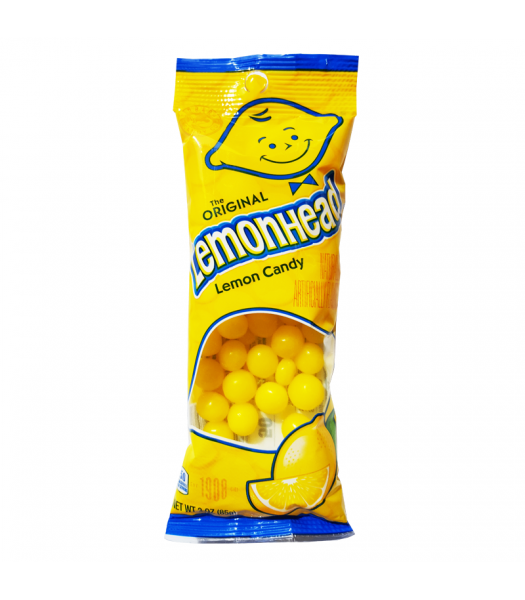 Lemonheads Flex Peg Bag - 3oz (85g) Soft Candy Ferrara