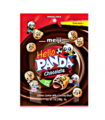 Meiji Hello Panda Chocolate Pouch 7oz (198g) Cookies and Cakes Meiji
