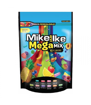 Mike & Ike Megamix Resealable Pouch - 10oz (283g) Sweets and Candy Mike and Ike
