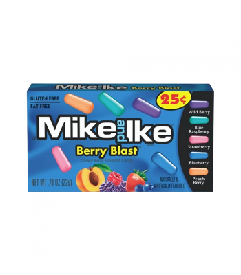 Mike & Ike - Berry Blast Candy 0.78oz (22g) Sweets and Candy Mike and Ike