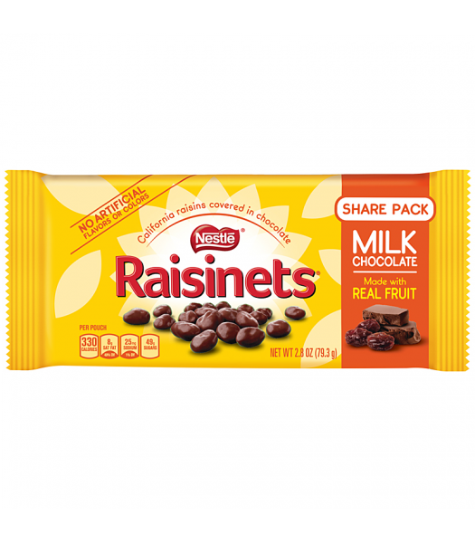 Clearance Special - Nestle Raisinets - Chocolate Covered Raisins - 1.58oz (44.7g) **Best Before: September 19** Clearance Zone