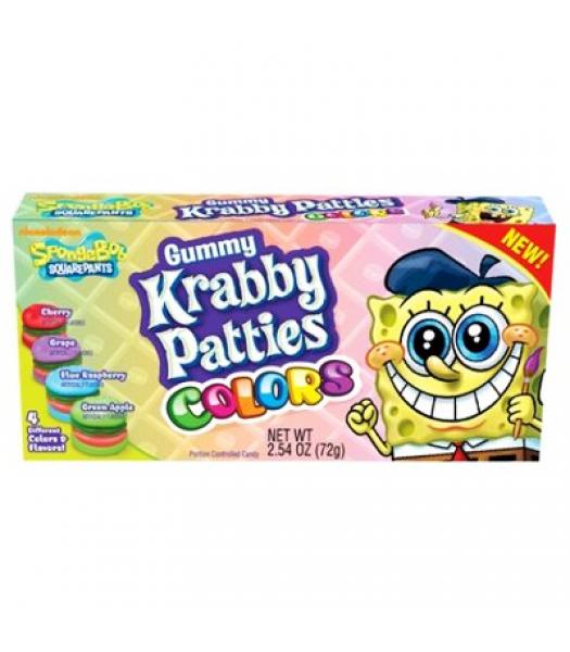 Spongebob Squarepants Gummy Krabby Patties Colors 2.54oz (72g) Soft Candy