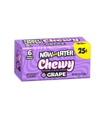 Now & Later 6 Piece CHEWY Grape Candy 0.93oz (26g)