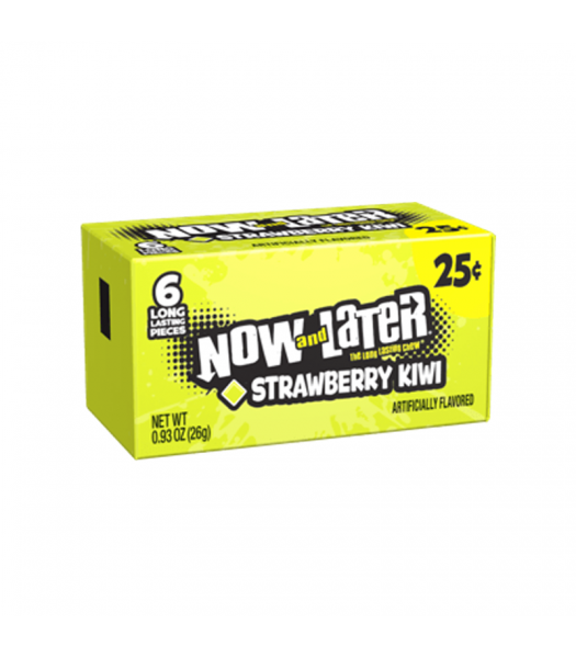 Now & Later 6 Piece Limited Edition Strawberry Kiwi Candy 0.93oz (26g) Sweets and Candy Now & Later