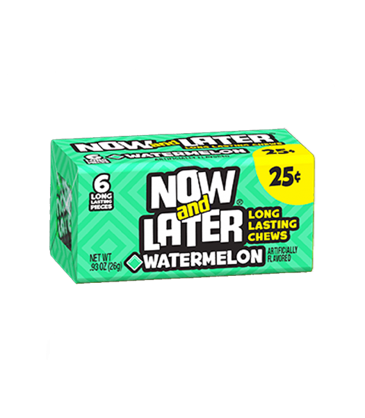 Now & Later 6 Piece Watermelon Candy 0.93oz (26g)