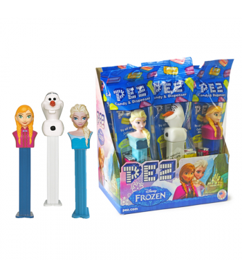 PEZ Disney Frozen Dispenser (Poly Pack) + 2 PEZ Candies - 0.58oz (16.4g) Sweets and Candy PEZ