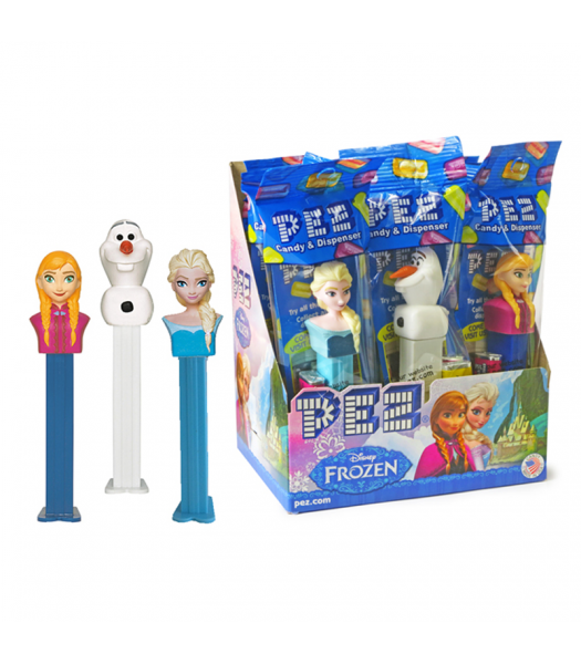 PEZ Disney Frozen Dispenser (Poly Pack) + 2 PEZ Candies - 0.58oz (16.4g) Sweets and Candy PEZ