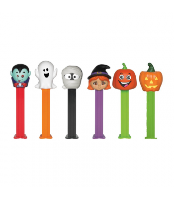 PEZ Assorted Halloween Poly Pack - 0.58oz (16.4g) Sweets and Candy PEZ