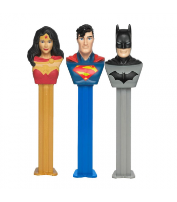 PEZ Justice League Blister Pack - 0.87oz (24.7g) Sweets and Candy PEZ