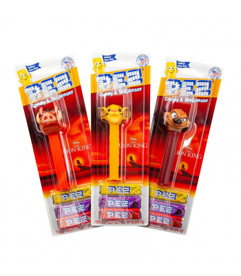 PEZ Lion King + 3 Tablet Packs - 0.87oz (24.7g) Sweets and Candy PEZ
