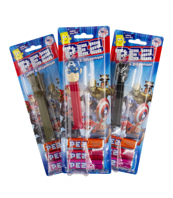 PEZ Marvel Dispenser + 3 Tablet Packs - 0.87oz (24.7g) Sweets and Candy PEZ