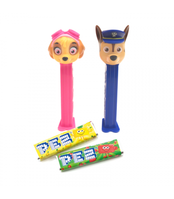 PEZ Paw Patrol Dispenser + 2 PEZ Tablet Packs Sweets and Candy PEZ