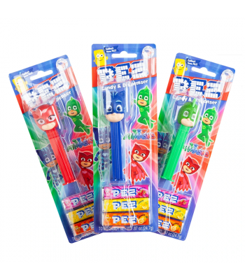 PEZ PJ Masks Dispenser + 3 Tablet Packs - 0.87oz (24.7g) Sweets and Candy PEZ
