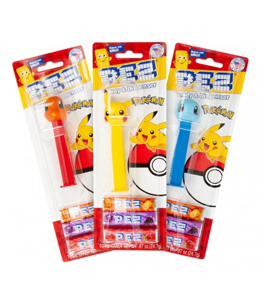 PEZ Pokemon Dispenser + 3 PEZ Tablet Packs - 0.87oz (24.7g) Sweets and Candy PEZ