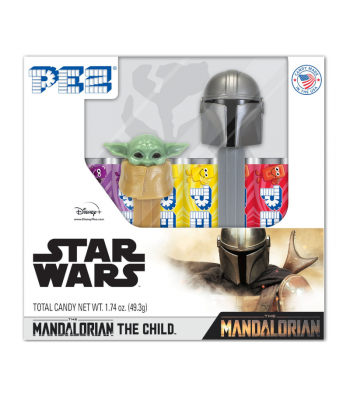 PEZ Star Wars Mandalorian Gift Set - 1.74oz (49.3g) Sweets and Candy PEZ