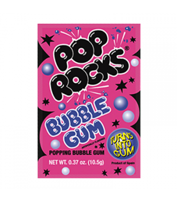 Pop Rocks Bubble Gum 10.5g Sweets and Candy Pop Rocks