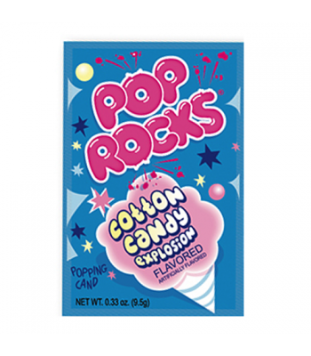 Pop Rocks Cotton Candy 9.5g Hard Candy Pop Rocks