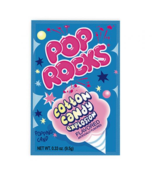 Pop Rocks Cotton Candy 9.5g Hard Candy Pop Rocks