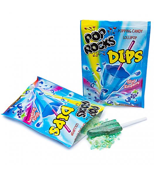 Pop Rocks Dips - Sour Blue Raspberry 0.63oz (18g) Hard Candy Pop Rocks
