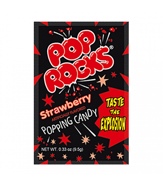 Pop Rocks Strawberry 9.5g Sweets and Candy Pop Rocks