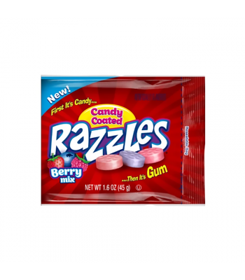 Razzles Candy Coated Berry Mix - 1.6oz (45g) Soft Candy Razzles