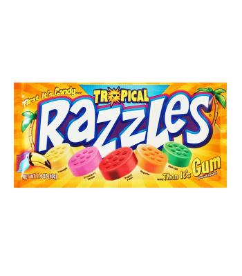 Razzles Tropical Pouch 1.4oz (40g) Soft Candy Razzles