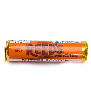 Reed's Butterscotch Flavored Hard Candy Roll 1.01oz (29g) Hard Candy