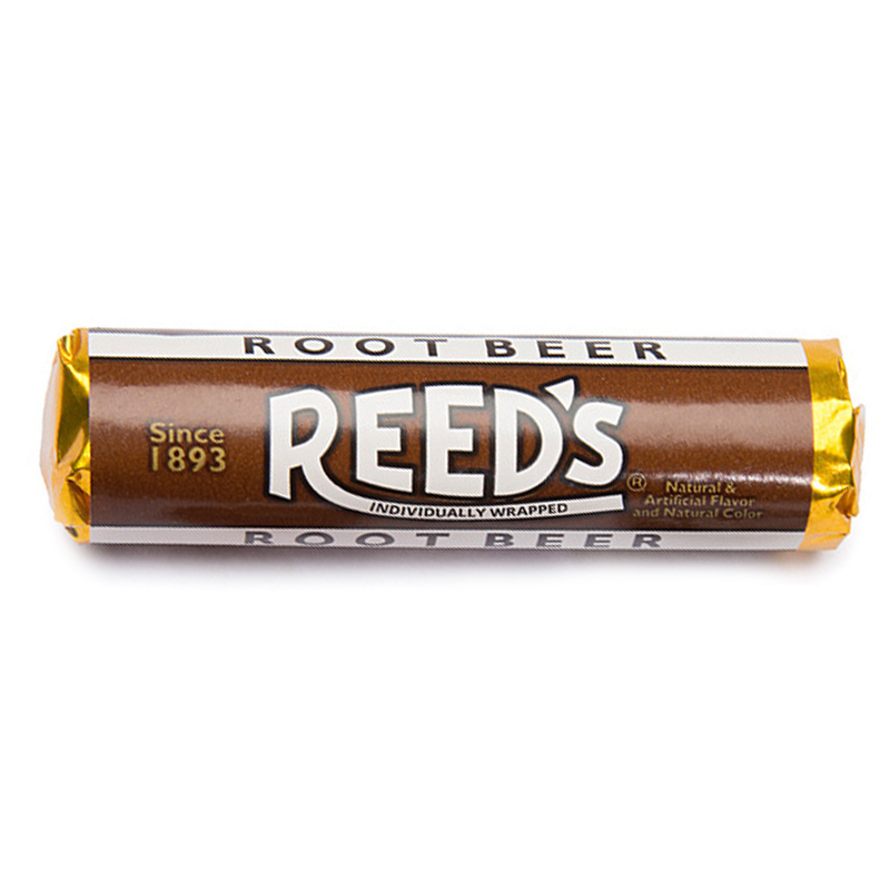 Reed S Root Beer Flavored Hard Candy Roll 1 01oz 29g