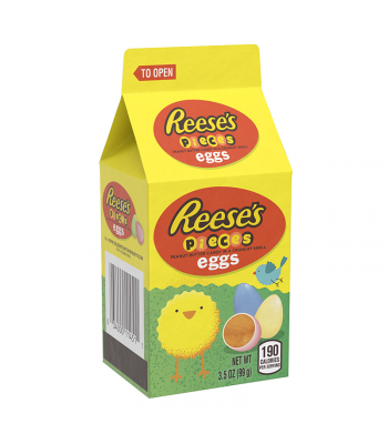 Reese's Pieces Pastel Eggs Mini Carton 3.5oz Sweets and Candy Reese's