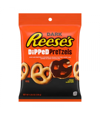 Reese's Dark Chocolate Dipped Pretzels - 4.25oz (120g) Sweets and Candy Reese's