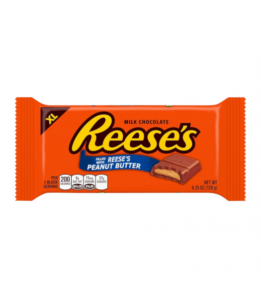 Reeses Peanut Butter XL Bar - 4.25oz (120g) Sweets and Candy Reese's
