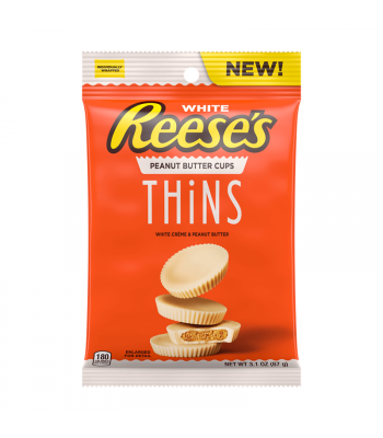 Reese's White Chocolate Thins Peg Bag 3.1oz (87g) Sweets and Candy Reese's