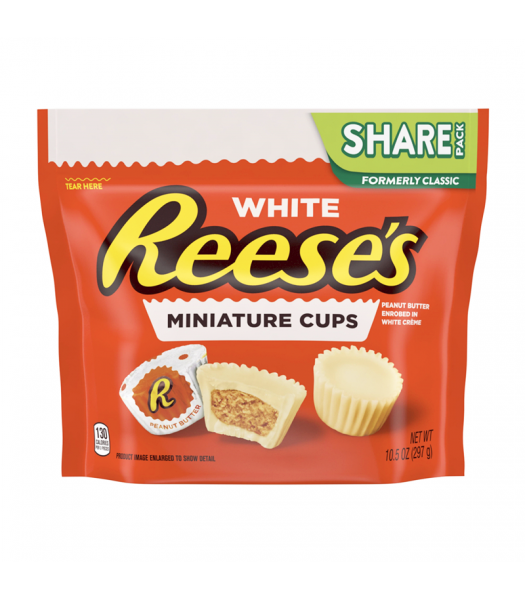 Reese's White Miniature Cups Share Size - 10.5oz (297g) Sweets and Candy Reese's