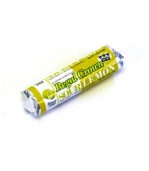 Regal Crown Sour Lemon Roll 1.01oz (29g) Sweets and Candy