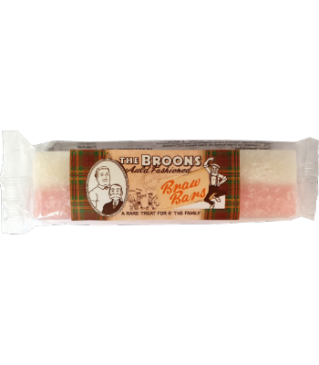 The Broons Auld Fashioned Coconut Ice Nougat Bar 130g