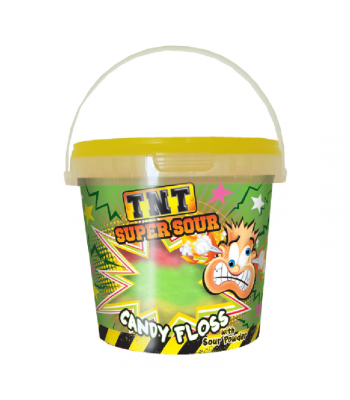 TNT Super Sour Candy Floss with Sour Powder - 50g Sweets and Candy Rose Marketing