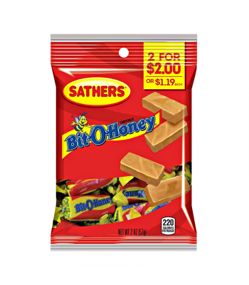 Sathers Bit O Honey 2oz (57g) Sweets and Candy Sathers