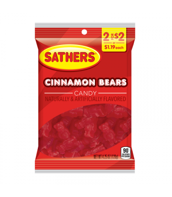 Sathers Cinnamon Bears - 4.25oz (120g) Sweets and Candy Sathers